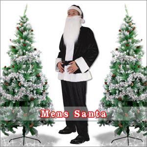 【クリスマスコスプレ】メンズサンタ Men's Santa costume BLACK VELVET ブラック