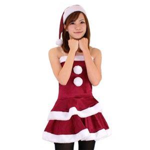 【クリスマスコスプレ】レディースサンタ Ladie's Santa costume DK RED VELVET レッド