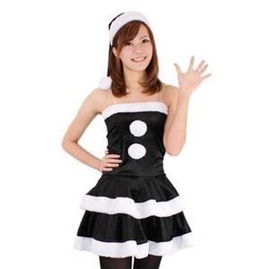 【クリスマスコスプレ】レディースサンタ Ladie's Santa costume BLACK VELVET ブラック
