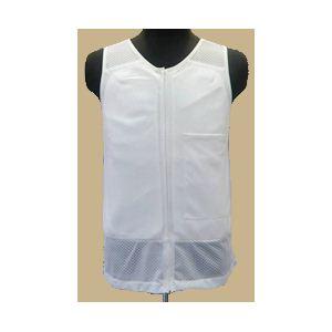【耐刃防護生地】 京都西陣yoroi セーフティーインナーベスト 白 M (胸ポケット付き)