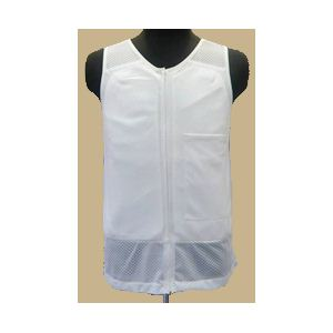【耐刃防護生地】 京都西陣yoroi セーフティーインナーベスト 白 LL (胸ポケット付き)