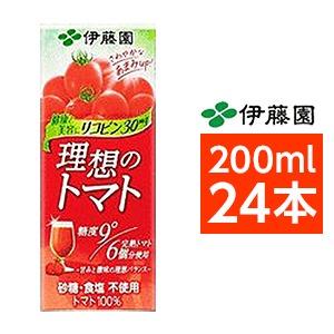 【まとめ買い】伊藤園 理想のトマト 200ml×24本(1ケース) 紙パック