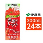 【まとめ買い】伊藤園 理想のトマト 200ml×24本(1ケース) 紙パックの詳細ページへ