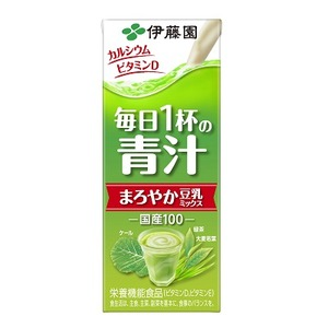 【まとめ買い】伊藤園 毎日1杯の青汁 まろやか豆乳ミックス 紙パック 200ml×48本(24本×2ケース)
