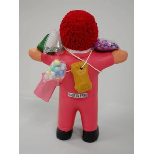 【エケコ人形15cm】ピンク色(桃色) 限定モデル女性に人気!(ペルー直輸入)
