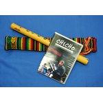 【CHECHO QUENA + DVD SET 】ペルーのケーナリスト'チェチョ'作 G管の竹製プロ用ケーナ+アワイヨ柄ケース+チェチョのライブDVD 3点セット★の詳細ページへ