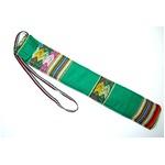【QUENA SOFT CASE GREEN AGUAYO】民族楽器ケーナ用の布・ソフトケース アンデス織物のアワイヨ柄 グリーン(緑)★ペルー製の詳細ページへ