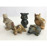 【ミニ動物 アニマルの置物5点セット】T03 天然石 ソープストーンのお守り 動物の形したミニチュア ハンドメイド彫刻 ペルー製 の詳細ページへ