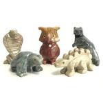 【ミニ動物 アニマルの置物5点セット】T05 天然石 ソープストーンのお守り 動物の形したミニチュア ハンドメイド彫刻 ペルー製 の詳細ページへ