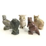 【ミニ動物 アニマルの置物5点セット】T06 天然石 ソープストーンのお守り 動物の形したミニチュア ハンドメイド彫刻 ペルー製 の詳細ページへ