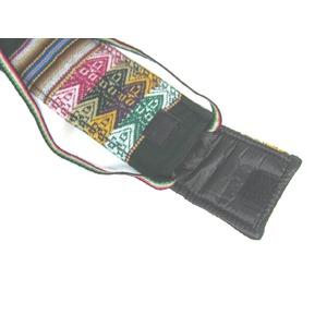 【QUENA SOFT CASE DARK GREEN AGUAYO】民族楽器ケーナ用の布・ソフトケース アンデス織物のアワイヨ柄 ダークグリーン(濃い緑)★ペルー製