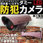 赤色LEDが常時点灯!本物にしか見えません!CCDダミー防犯カメラ 紫 1点
