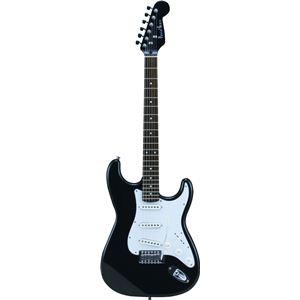 Photogenic エレキギター ブラック ST-180 HBK