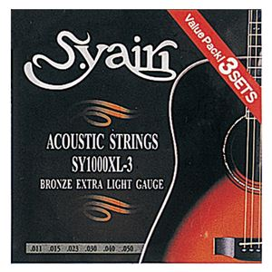 アコースティックギター弦 エクストラライトゲージ 3セット SY1000XL-3