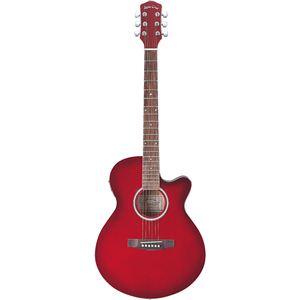 Sepia Crue エレクトリックアコースティックギター Winered Sunburst EAW-200 WRS