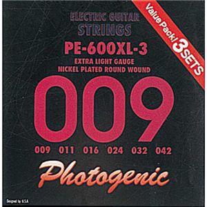 エレキギター弦 エクストラライトゲージ 3セット PE600XL-3