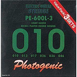 エレキギター弦 ライトゲージ 3セット PE600L-3
