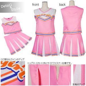 新色追加!! ときめきチアガール☆7color【コスチューム/イベント】 ピンク Mサイズ