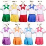 ジューシーカラーセーラー服★9color【制服/学生服】 パープルMサイズ
