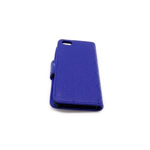 iPhone5 ケース カバー キルティング PVC素材 ブルー