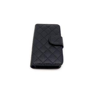 iPhone5 ケース カバー キルティング PVC素材 ブラック