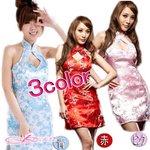 【3color】チャイナドレス&ショーツコスプレ/赤