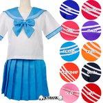 新色追加!10色のビタミンカラー☆セーラー服★10color♪【コスプレ/制服】レッドLサイズ