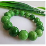 パワーストーン 天然石ブレスレット 数珠  10mm玉 落ち着いた色合い  グリーンの詳細ページへ
