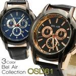 メンズ腕時計 Bel Air collection OSD61 メンズ 腕時計/ブラックブルー