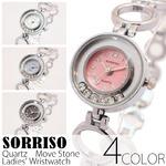 レディース腕時計【SORRISO ソリッソ】ムーブストーン・レディース腕時計[全4色]/ブルー