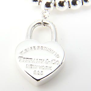 Tiffany(ティファニー) レディス アクセサリー RTT ミニ ハート ロック ビーズ ブレスレット 25067274