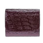 FOLLI FOLLIE(フォリフォリ) ロゴマニア ロゴ型押し 小銭入れ付 二つ折り財布 パープル WA0L026SV VIO