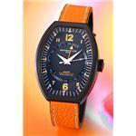 モントレス デ ラックス 腕時計 ESTREMO EX9502 オレンジナンバー