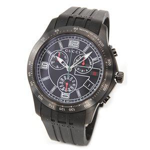 Gucci(グッチ) メンズ 腕時計 G-タイムレス コレクション オールブラック ブラックラバー クロノグラフ・ウオッチ YA126206