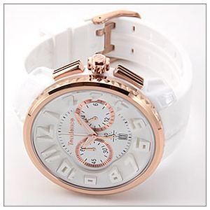 TENDENCE(テンデンス) メンズ 腕時計 Roundo Gulliver Chrono(ラウンド・ガリバー・クロノ)シリーズ 超おススメ・モテ系ホワイト クロノグラフ 2046014