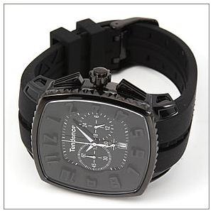 TENDENCE(テンデンス) メンズ 腕時計 Square Gulliver Chronograph (スクエアガリバークロノグラフ) モテ系オールブラック クロノグラフ 2086005