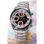 OMEGA(オメガ) 腕時計 スピードマスターデイト ブラック/レッド&シルバー 3210-52