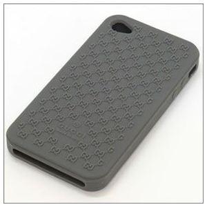 Gucci(グッチ) マイクロGGシリコン iPhone4/4S専用・ラバーケース アイフォン・カバー グレー 272401 J1400 1320