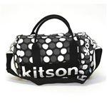 Kitson(キットソン) MINI DUFFLE ミニ ダッフル 2WAY ショルダー・ボストンバッグ ドット柄 ブラック/ホワイト・グレー KHB0617