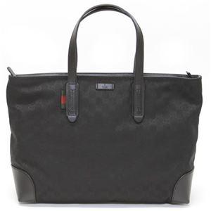 Gucci(グッチ) オリジナルGGキャンバス ウェブループ付 トートバッグ ラージ ブラック/ブラック 308928 F4CSN 1060