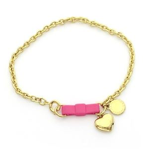 MARC BY MARC JACOBS(マークバイマークジェイコブス) Bow Tie Bracelet/Heart リボン&ハート チェーン・ブレスレット M0004228-676 KNOCK OUT PINK