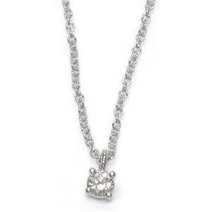Tiffany(ティファニー) ソリティア ダイヤモンド ペンダント ネックレス 0.12ct 16in PT プラチナ 14001557