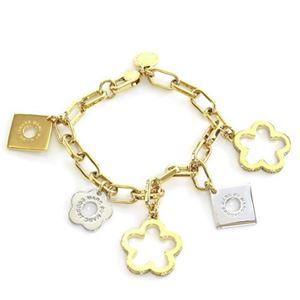 MARC BY MARC JACOBS(マークバイマークジェイコブス) M0006516-716 ORO MULTI Diamond and Daisy Chain Bracelet ダイアモンド&デイジー ラインストーン チェーン ブレスレット