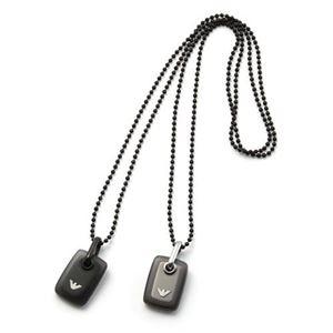 EMPORIO ARMANI(エンポリオアルマーニ) EGS2017001 イーグルロゴ 樹脂製メダル付 リバーシブル ペンダント/ネックレス ステンレススチール