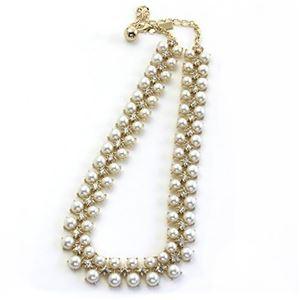 KATE SPADE(ケイトスペード) TWINKLING FETE Collar Necklace パール×スワロフスキー・クリスタル カーラー ネックレス WBRU9836-143