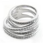 SWAROVSKI(スワロフスキー) Spiral スパイラル 4連 クリスタル・パヴェ リング 指輪 サイズ52(日本サイズ11号) 1156304の詳細ページへ