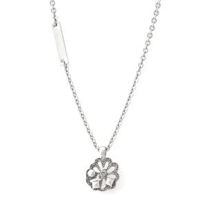 MARC JACOBS (マークジェイコブス) MKJ6384791 Crystal/Antique Silver Small Daisy Pendant デイジーモチーフ ペンダント ネックレス