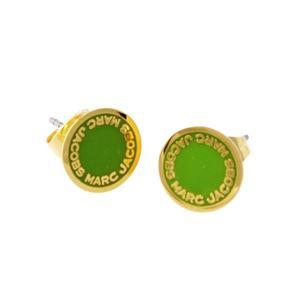 MARC JACOBS (マークジェイコブス) M0008544-300 Green ロゴ ディスク エナメル スタッド ピアス Logo Disc Enamel Studs