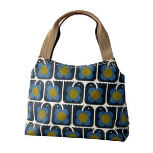 Orla Kiely (オーラカイリー) 17SELBR024 Navy ショルダーバッグ LOVE BIRDS PRINT Classic Zip Shoulder Bag