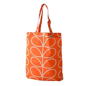 Orla Kiely (オーラカイリー) 17SELIN307 Persimmon トートバッグ ショッピングバッグ GIANT LINEAR STEM Packaway Tote
